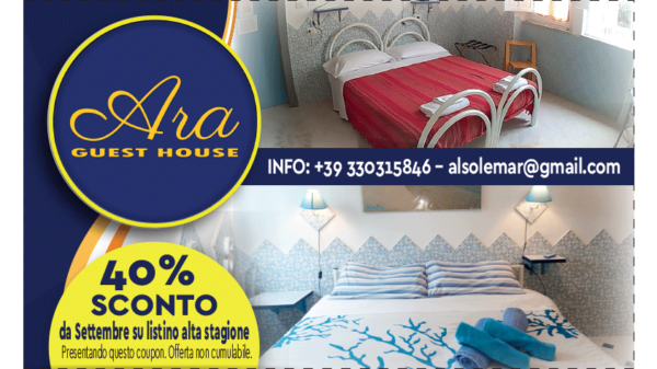 coupon 40% sconto ara guest house