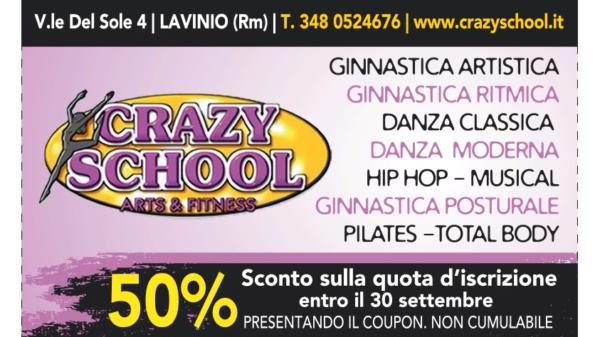Buono Sconto del 50% sull'iscrizione alla palestra Crazy School a Lavinio RM