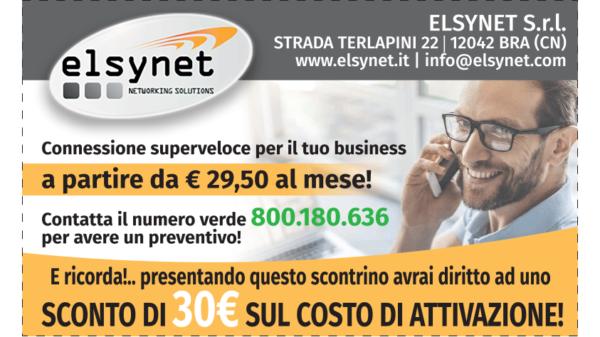 30€ sconto su soluzioni telefoniche e di rete Elsynet