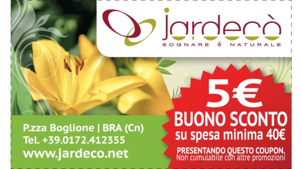 Buono sconto su piante fiori e accessori da Jardecò ad Alba