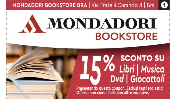 Coupon sconto 15 % Mondadori Book Store Bra Cuneo