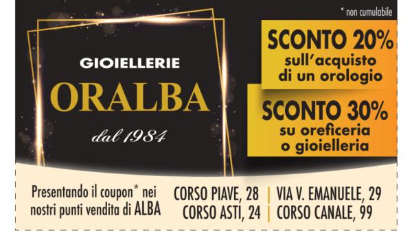 Coupon sconto % gioiellerie Oralba ad Alba