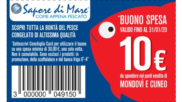 coupon sconto 10€ nei negozi saporedimare di cuneo e mondovì