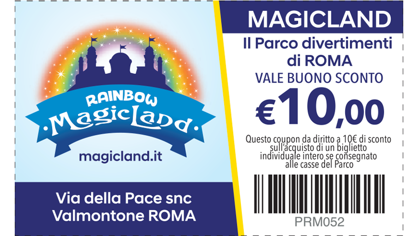 BUONO SCONTO 10€ – MAGICLAND